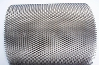 Gaas op rol 2,8kg (ca 1,2x5m), 22x45mm gaten, 1mm dik gr2