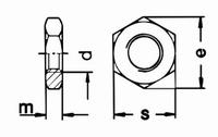 Half hoge moer M14*1mm (pitch)