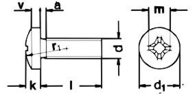 DIN7985 Phillips Pan Head Machine Screw