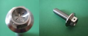 M6x20  (8mm head,  2mm holes in flowershape)