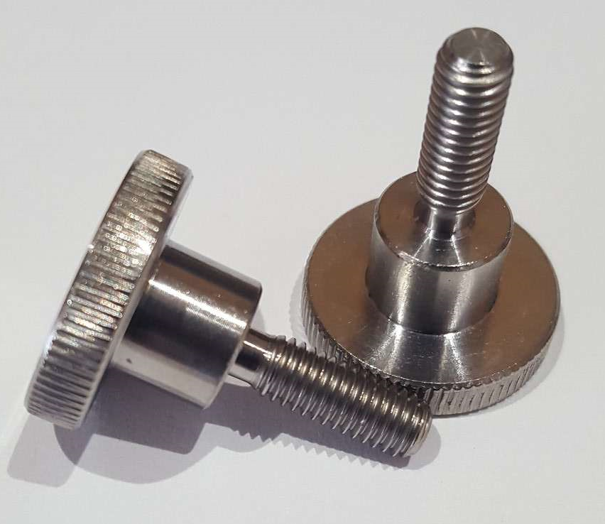 Knurled thumb screw high M5x15